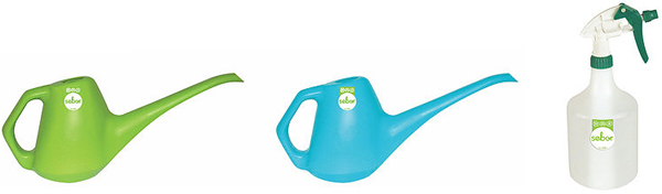 1 Litre small watering can and spray bottle